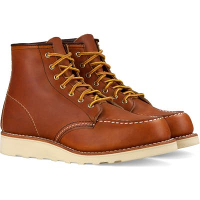 Red Wing 6-Inch Moc Boot- Brown