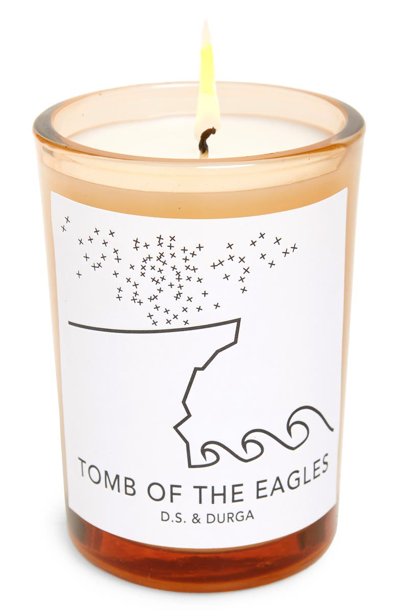 D.S. & DURGA Tomb of the Eagles Scented Candle, Main, color, WHITE