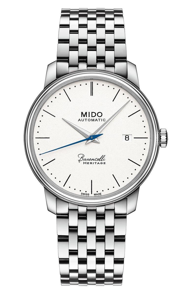 MIDO Baroncelli III Bracelet Watch, 39mm, Main, color, 040
