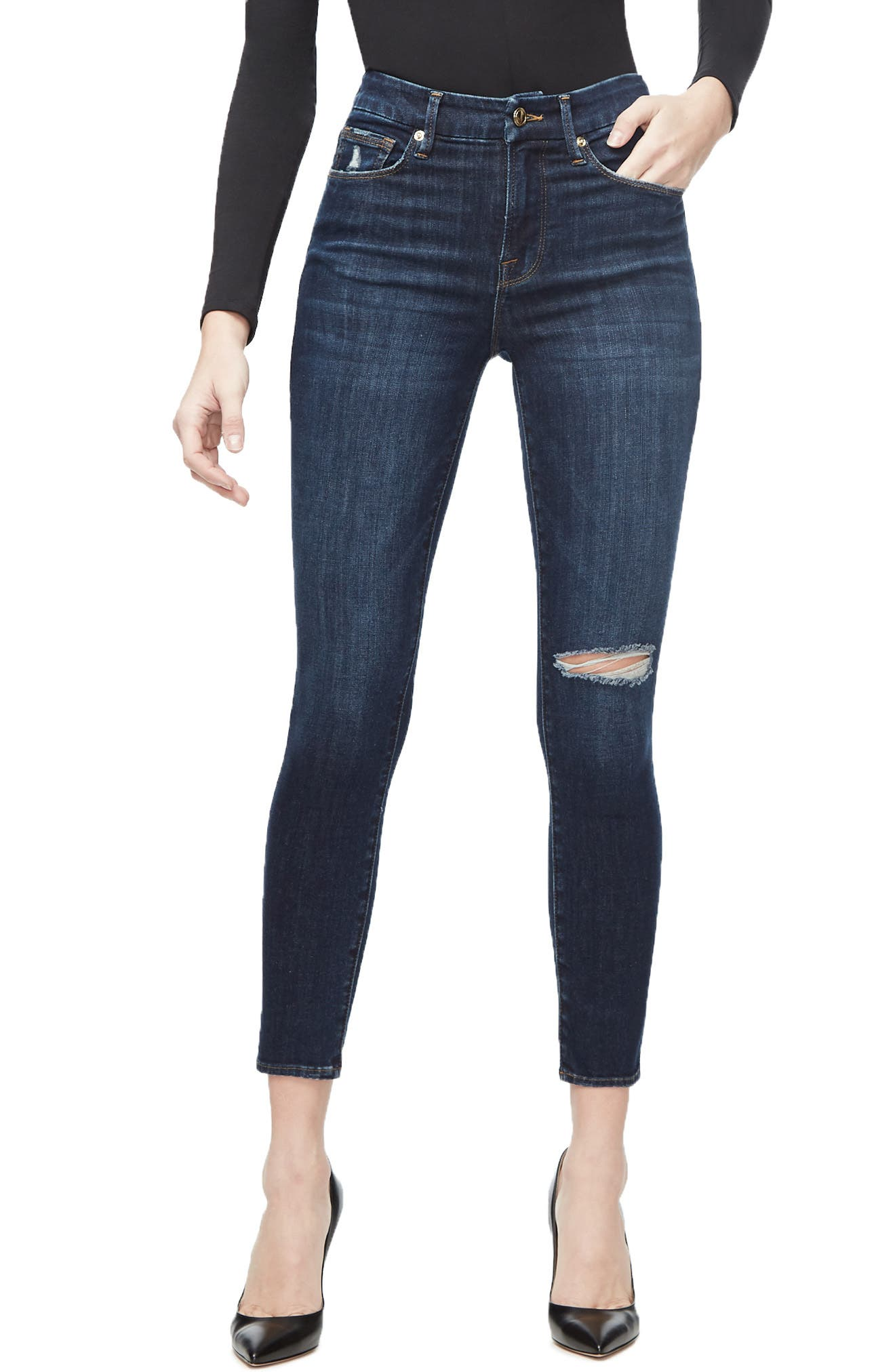 ,                             Good Legs Ankle Skinny Jeans,                             Main thumbnail 33, color,                             406
