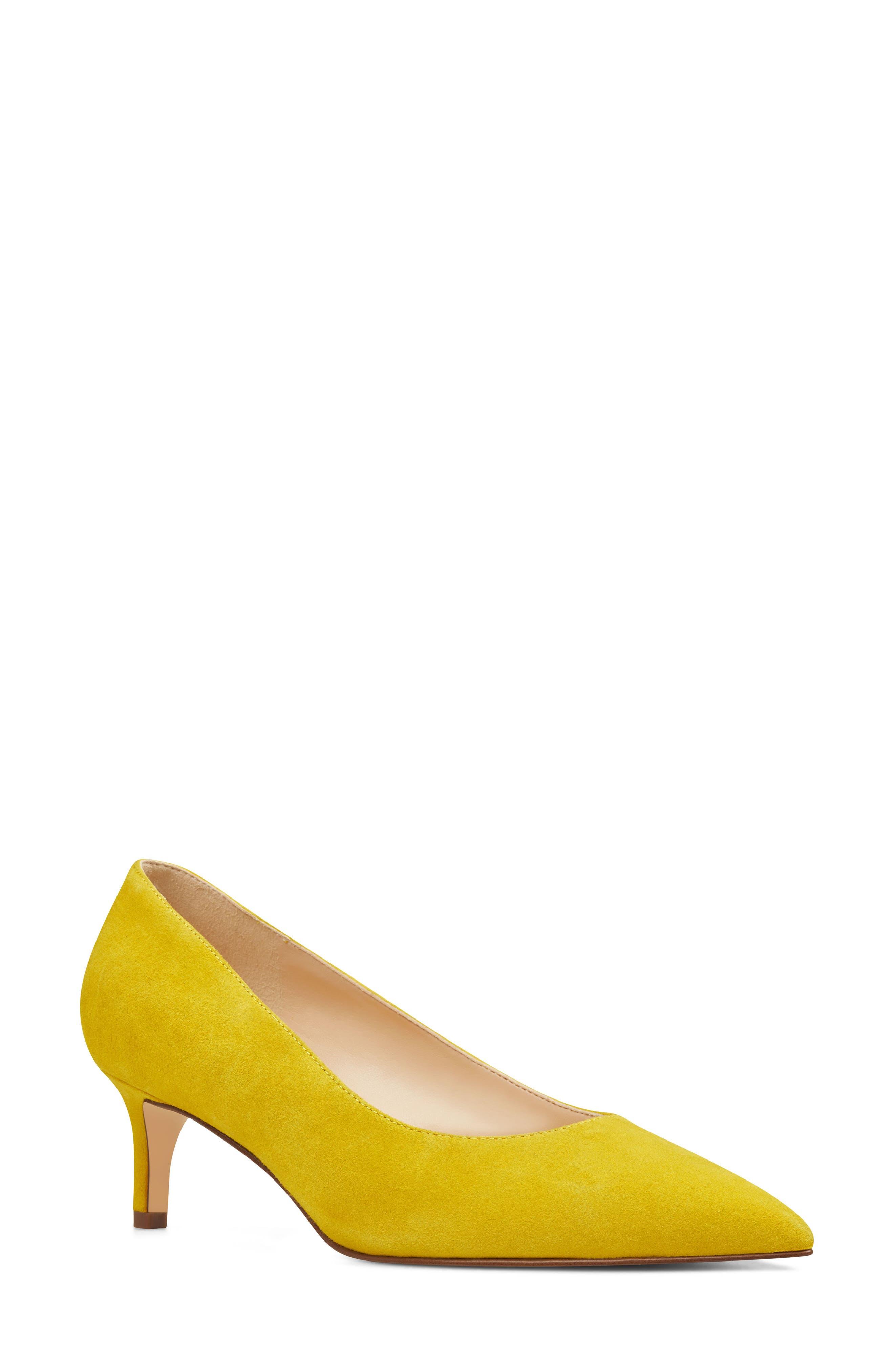 Nine West Fina Pump, Yellow