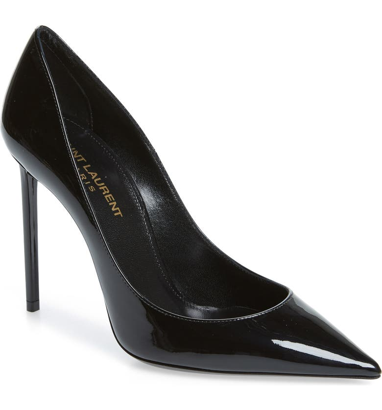 SAINT LAURENT Zoe Pointy Toe Pump, Main, color, BLACK PATENT
