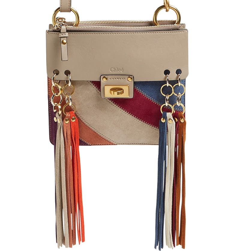 009335bf998 'Small Jane' Suede Fringe Patchwork Leather Crossbody Bag, Main, color, ...
