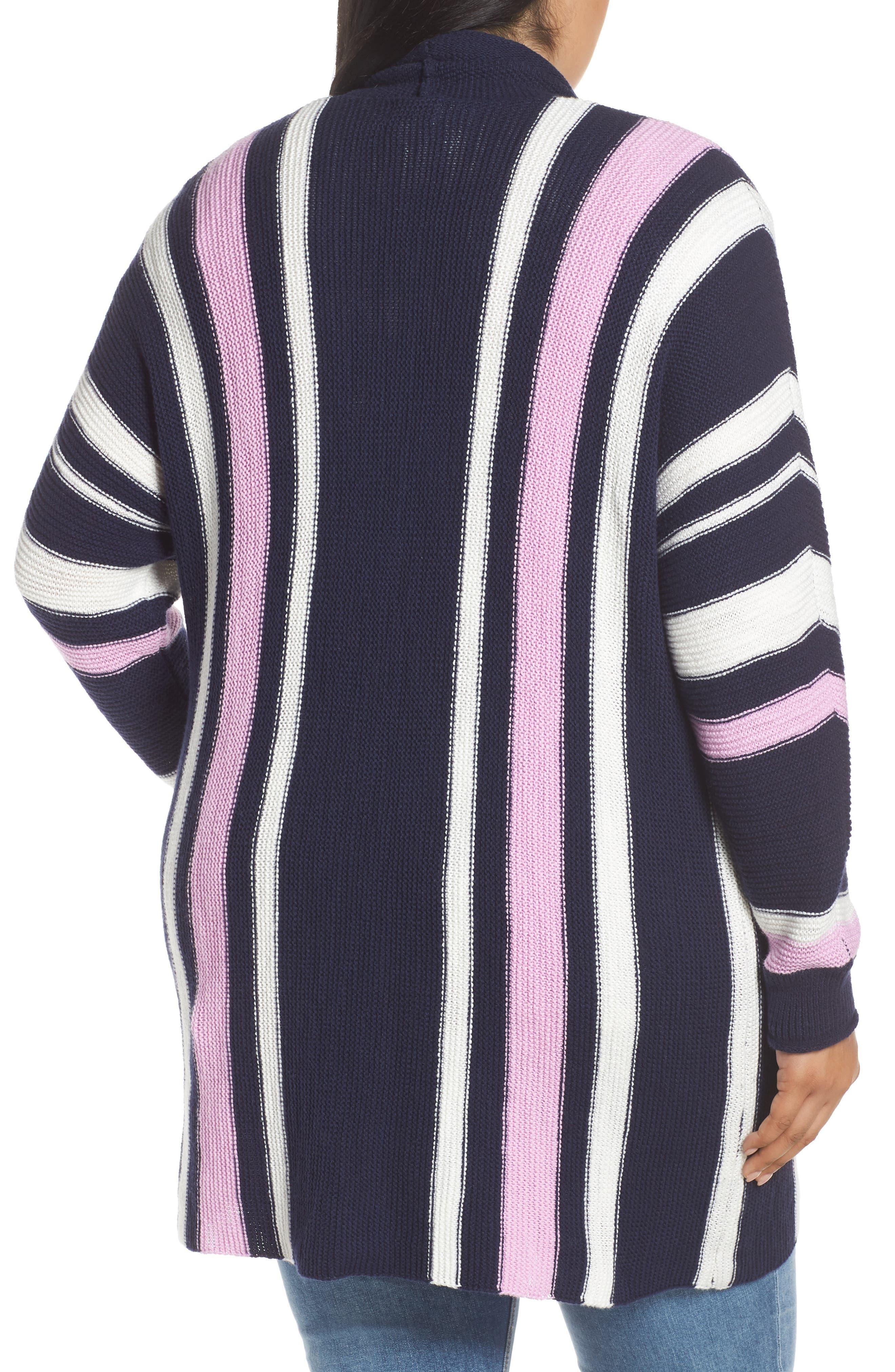 ,                             Stripe Open Front Cardigan,                             Alternate thumbnail 2, color,                             410