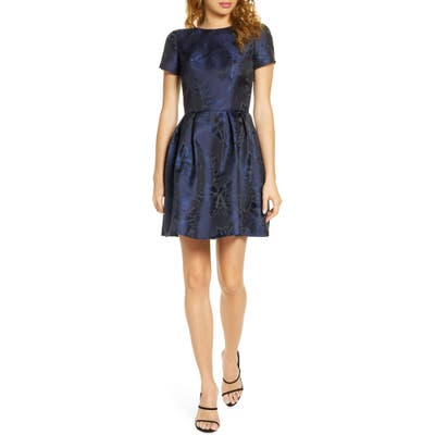 Chi Chi London Zarya Fit & Flare Cocktail Dress, Blue