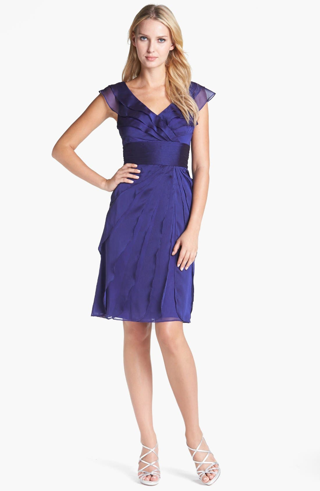 ,                             Tiered Chiffon Dress,                             Alternate thumbnail 31, color,                             450