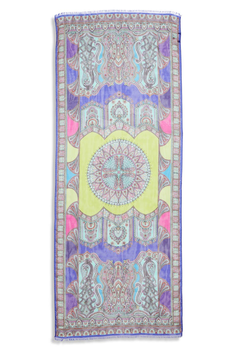 ETRO Sciarpa Delhy Silk Scarf, Main, color, 400