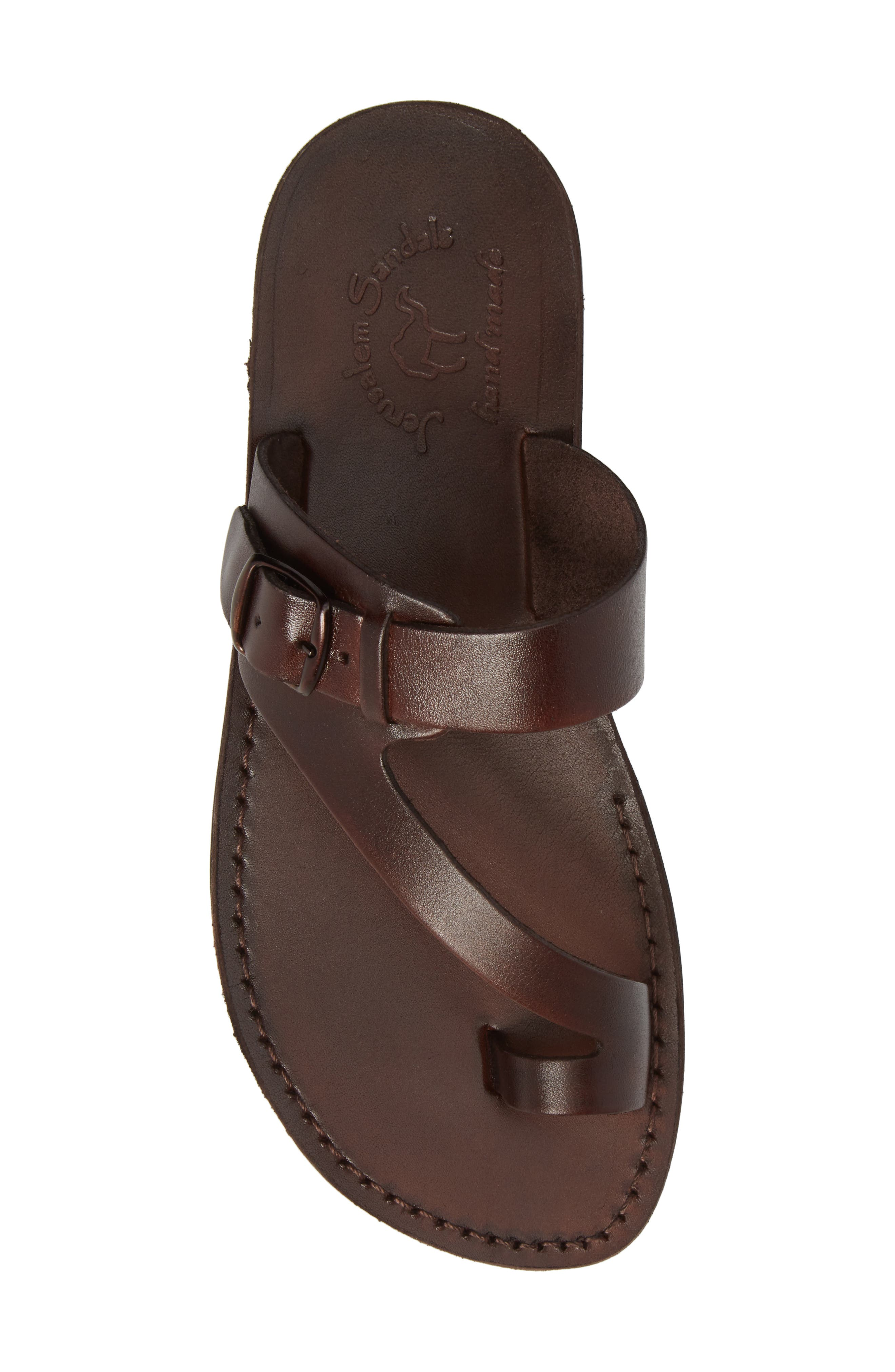 ,                             Abner Toe Loop Sandal,                             Alternate thumbnail 5, color,                             BROWN LEATHER