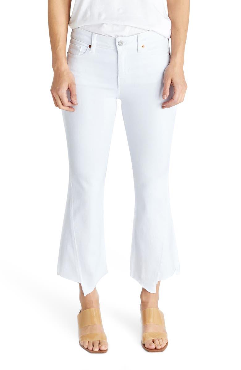 ÉTICA Micki Crop Kick Flare Jeans, Main, color, 100