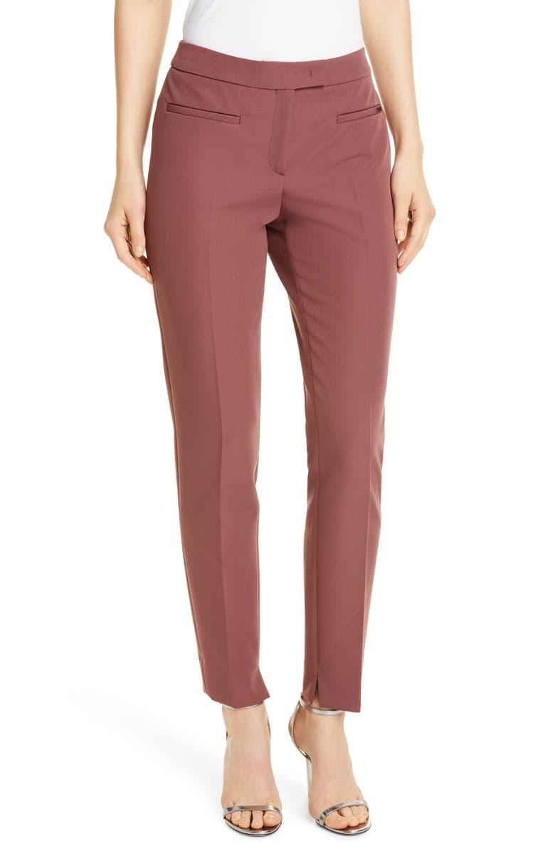 SEVENTY Front Pleat Trousers, Main, color, MAUVE