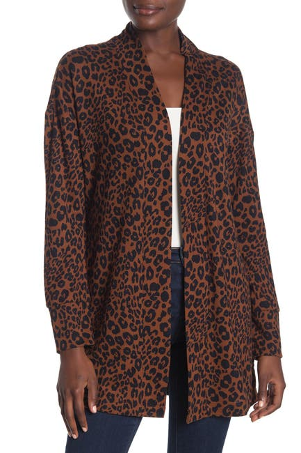 Image of Sanctuary Up Camp Leopard Knit Cardigan