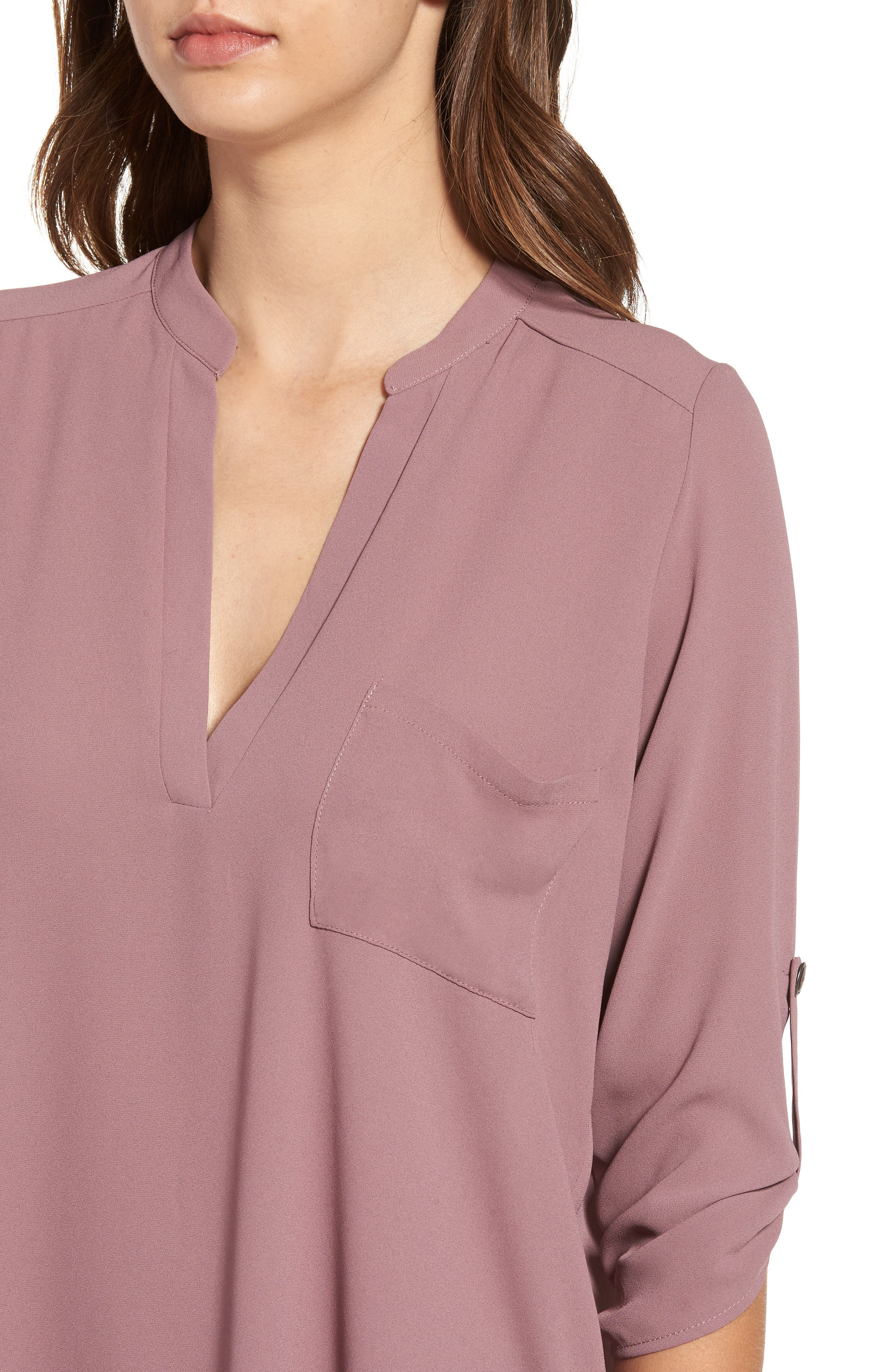 ,                             Perfect Roll Tab Sleeve Tunic,                             Alternate thumbnail 123, color,                             520