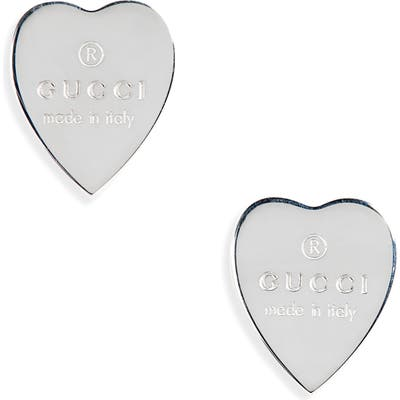Gucci Trademark Heart Stud Earrings
