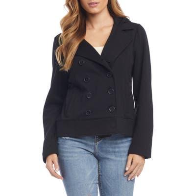 Karen Kane Hooded Knit Jacket, Black