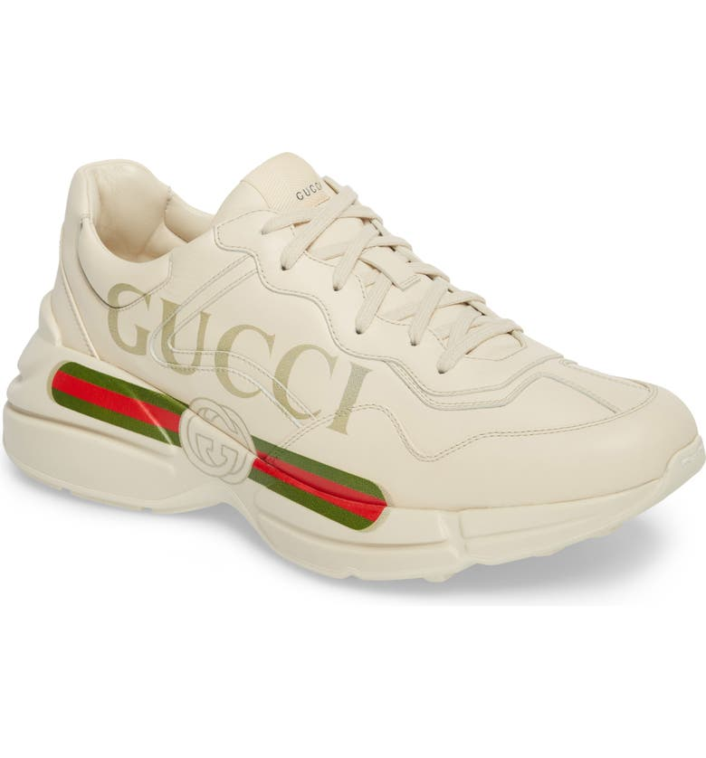 cc6ed09f7 Logo Leather Sneaker, Main, color, WHITE PRINT