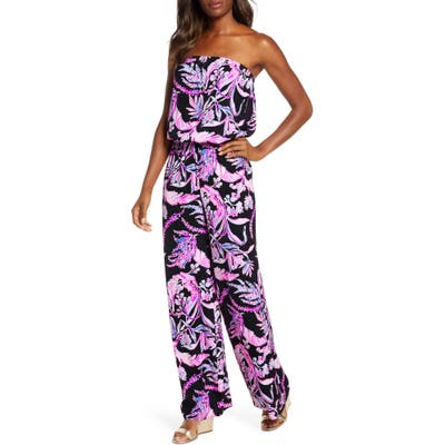 Lilly Pulitzer Pim Strapless Jumpsuit, Black