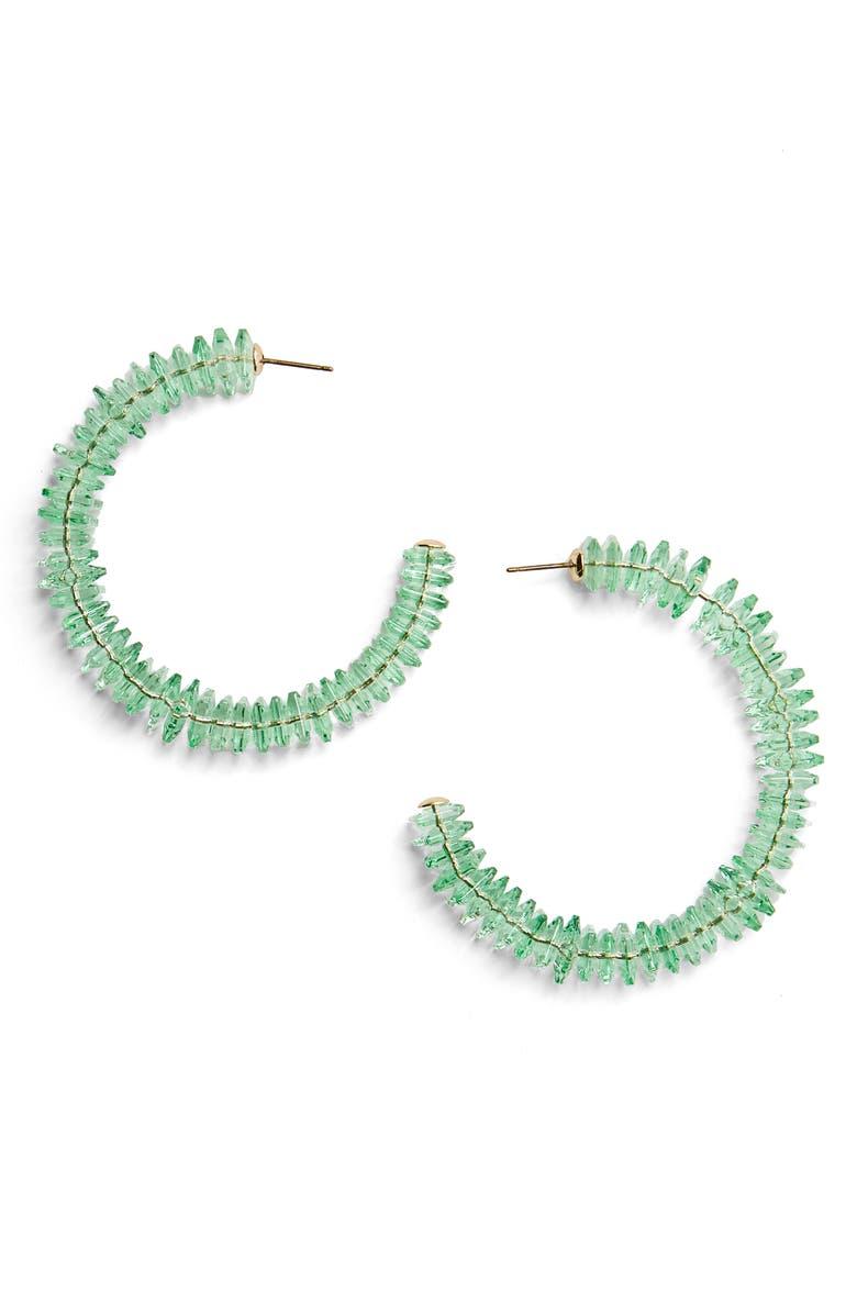 BAUBLEBAR Caylie Crystal Hoop Earrings, Main, color, 300