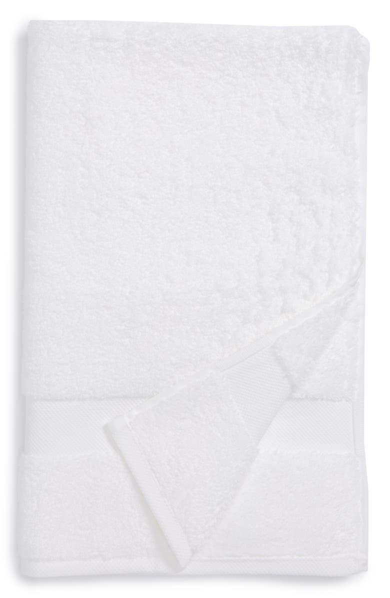 MATOUK Lotus Hand Towel, Main, color, WHITE