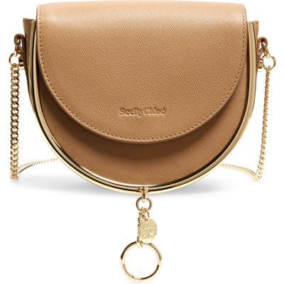 See By Chloe Mara Leather Saddle Bag - Brown