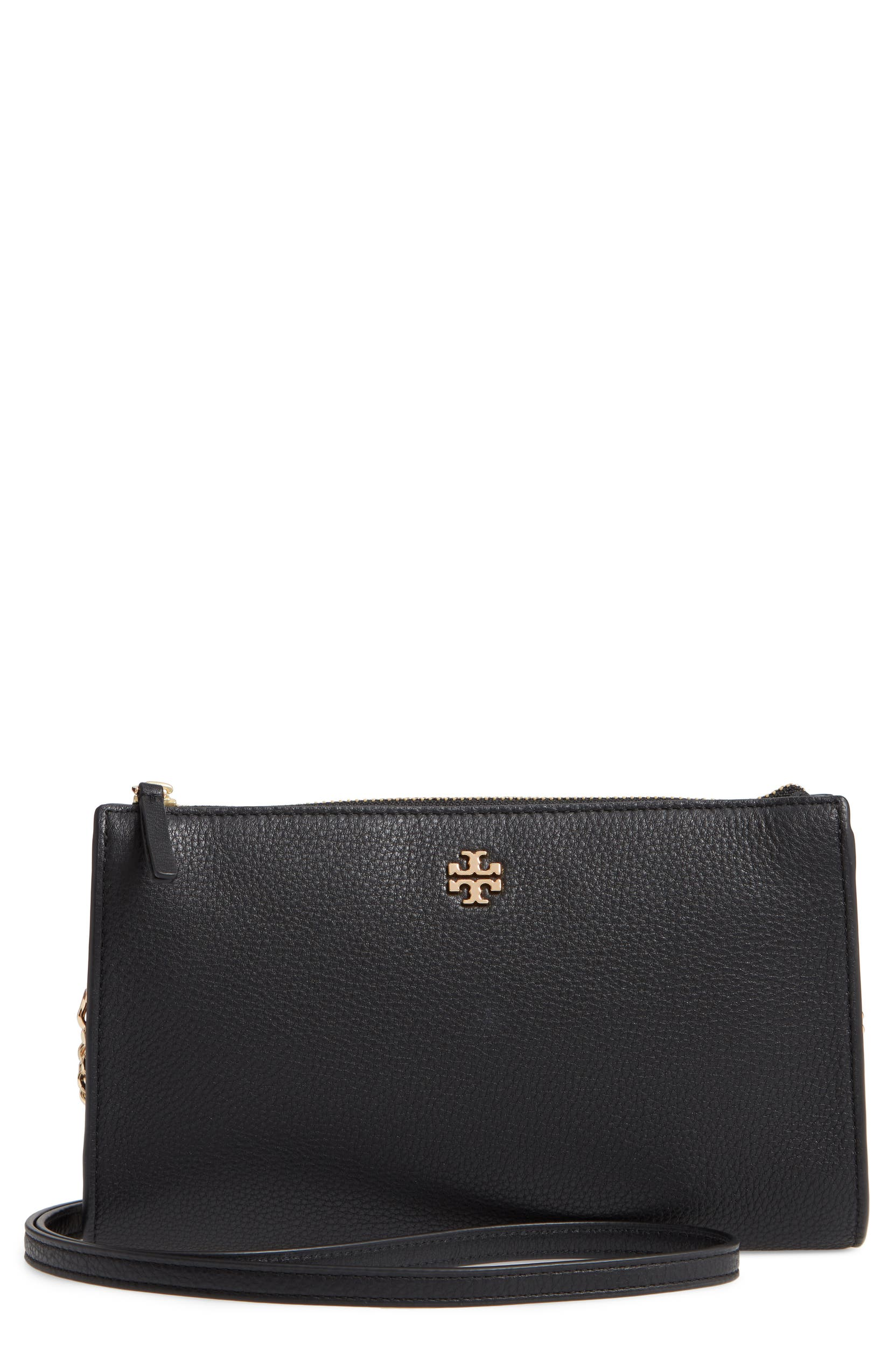 d61cf84957 Tory Burch Pebbled Leather Top Zip Crossbody Bag | Nordstrom