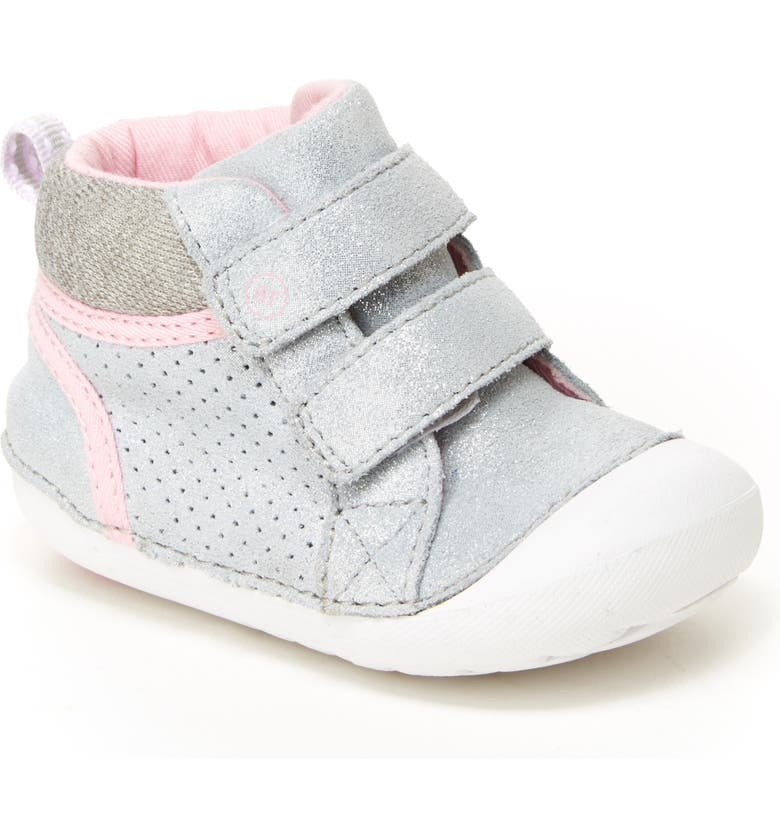 STRIDE RITE Soft Motion<sup>™</sup> Milo High Top Sneaker, Main, color, SILVER
