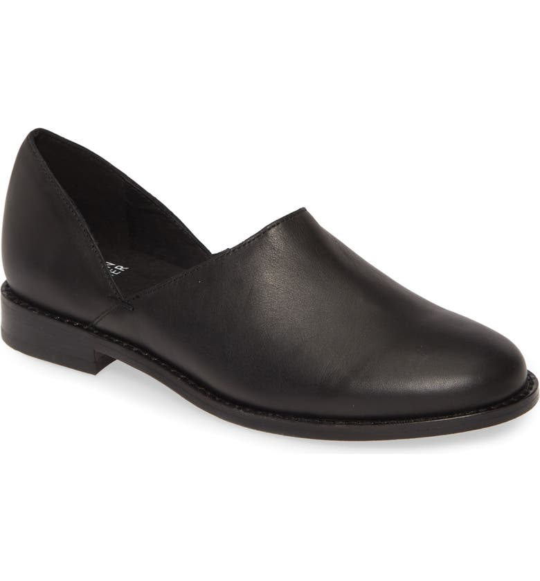 EILEEN FISHER Allan Flat, Main, color, BLACK LEATHER