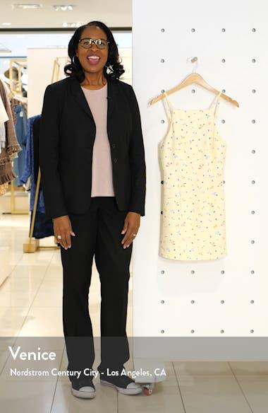 Floral Print Sleeveless Sheath Dress, sales video thumbnail