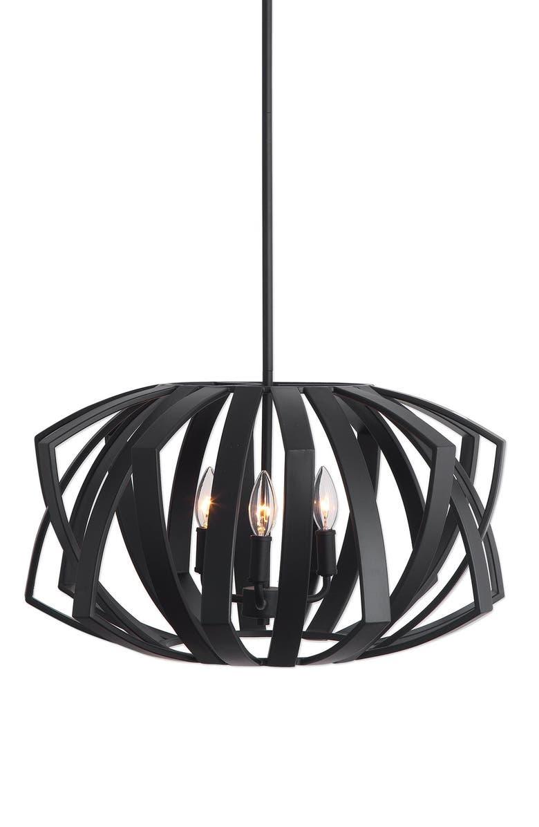 UTTERMOST Thales Pendant Light, Main, color, BLACK