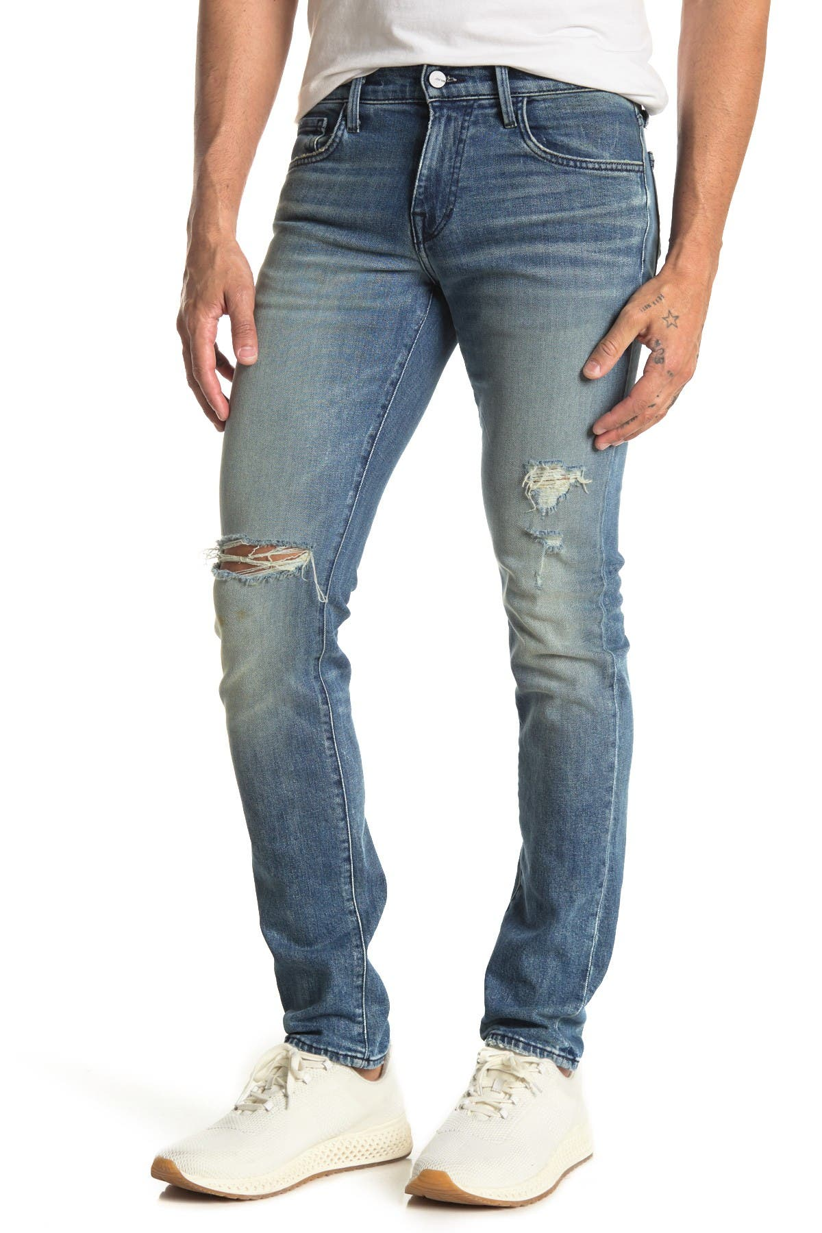 Image of Joe's Jeans The Asher Distressed Slim Jeans