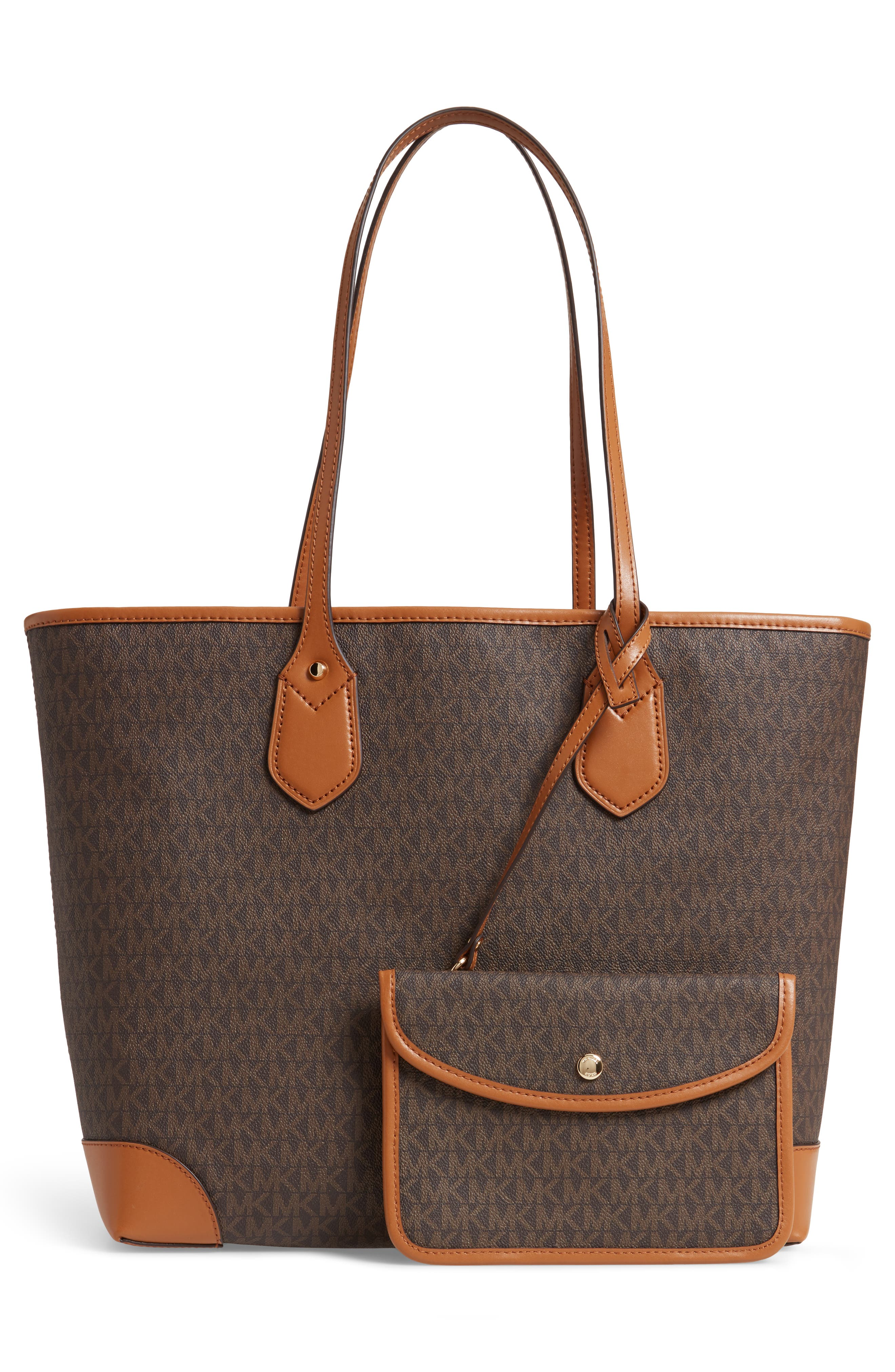 ,                             Eva Large Tote,                             Alternate thumbnail 4, color,                             BROWN