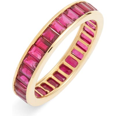 Bony Levy Baguette Gemstone Eternity Ring (Nordstrom Exclusive)