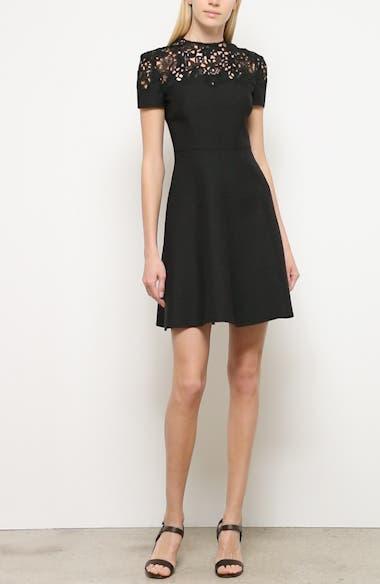 Lace Yoke Wool & Silk A-Line Dress, video thumbnail