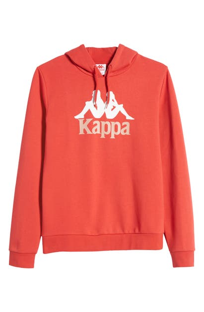 Kappa Authentic Esmio 2 Hoodie In Red/ White/ Dusty Pink