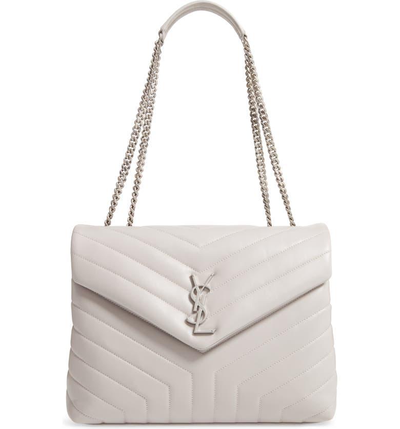 SAINT LAURENT Medium Loulou Matelassé Leather Shoulder Bag, Main, color, 033