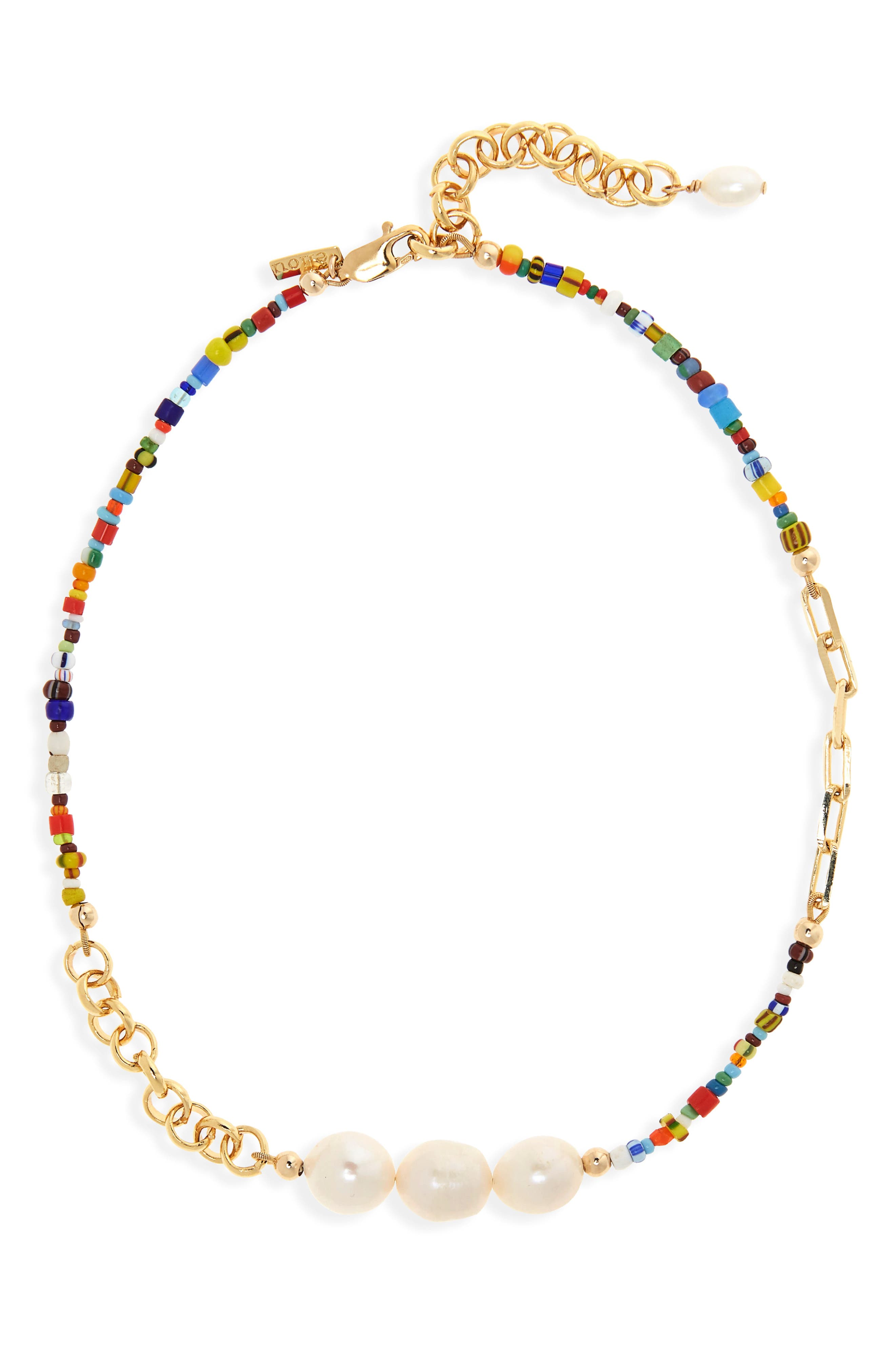 Women's Eliou Manaus Genuine Pearl & Bead Necklace