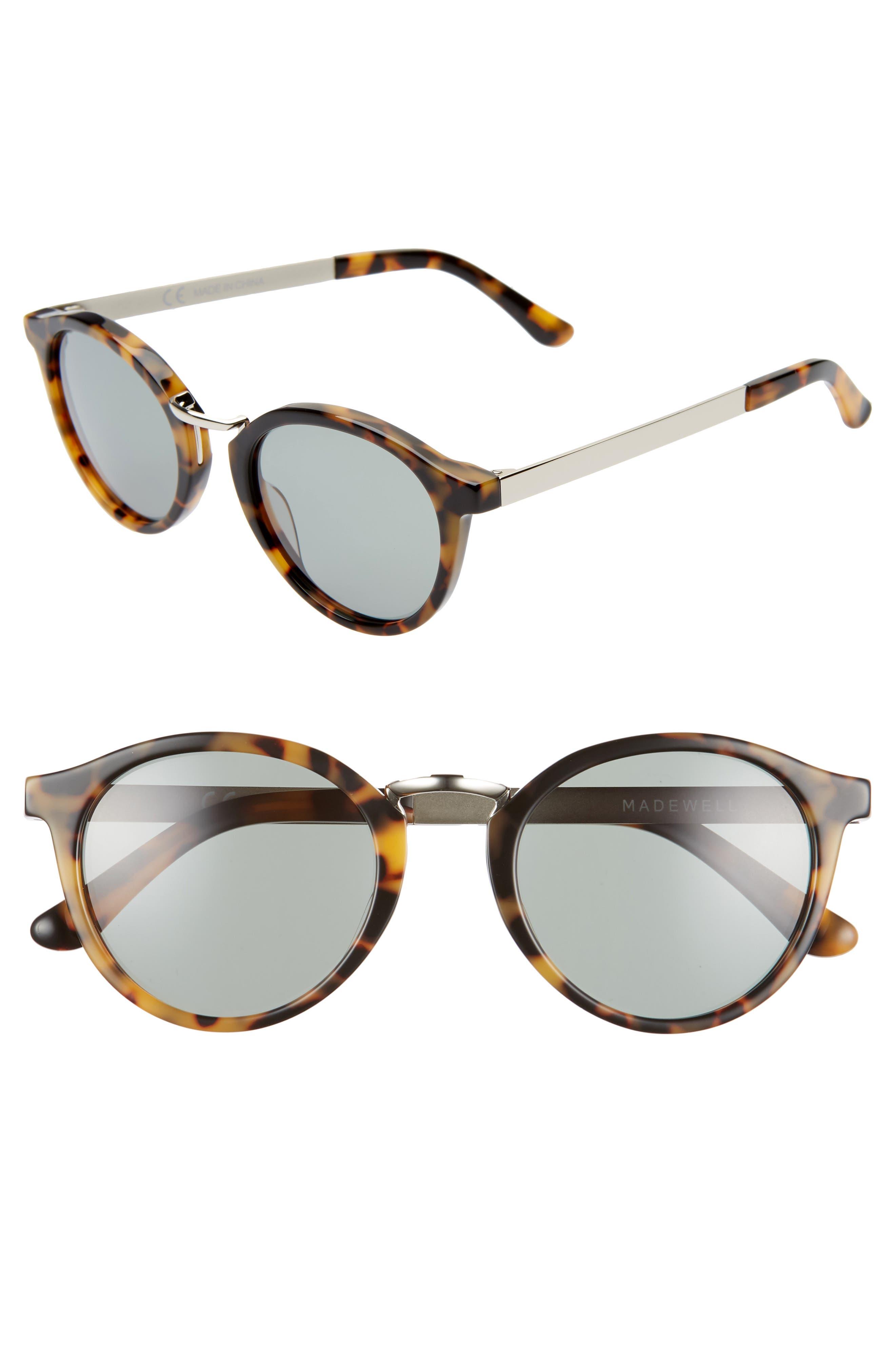 Madewell Indio 4m Round Sunglasses - Demi Tortoise