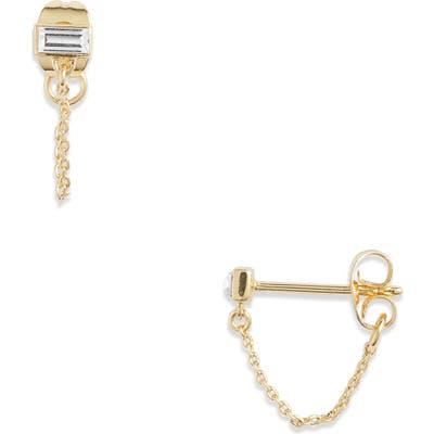 Gorjana Desin Chain Stud Earrings