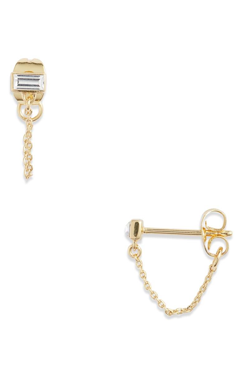GORJANA Desi Chain Stud Earrings, Main, color, 100