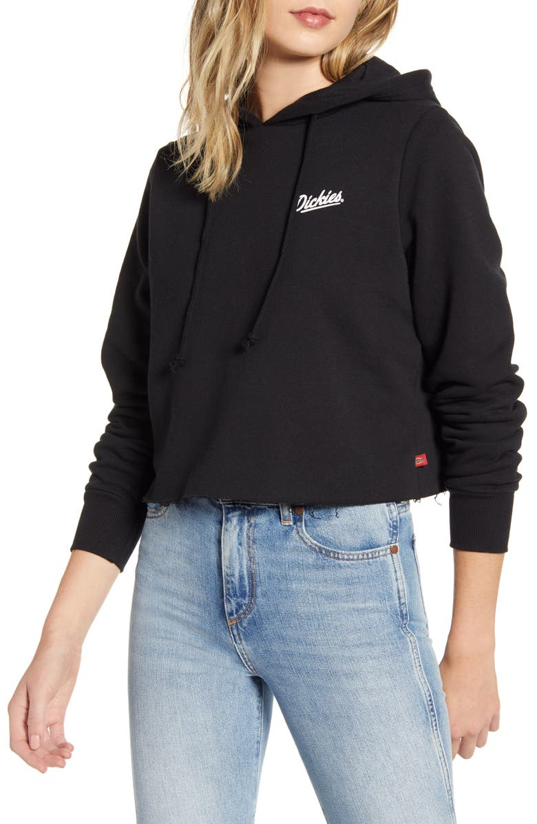 DICKIES Heritage Crop Hoodie, Main, color, BLACK