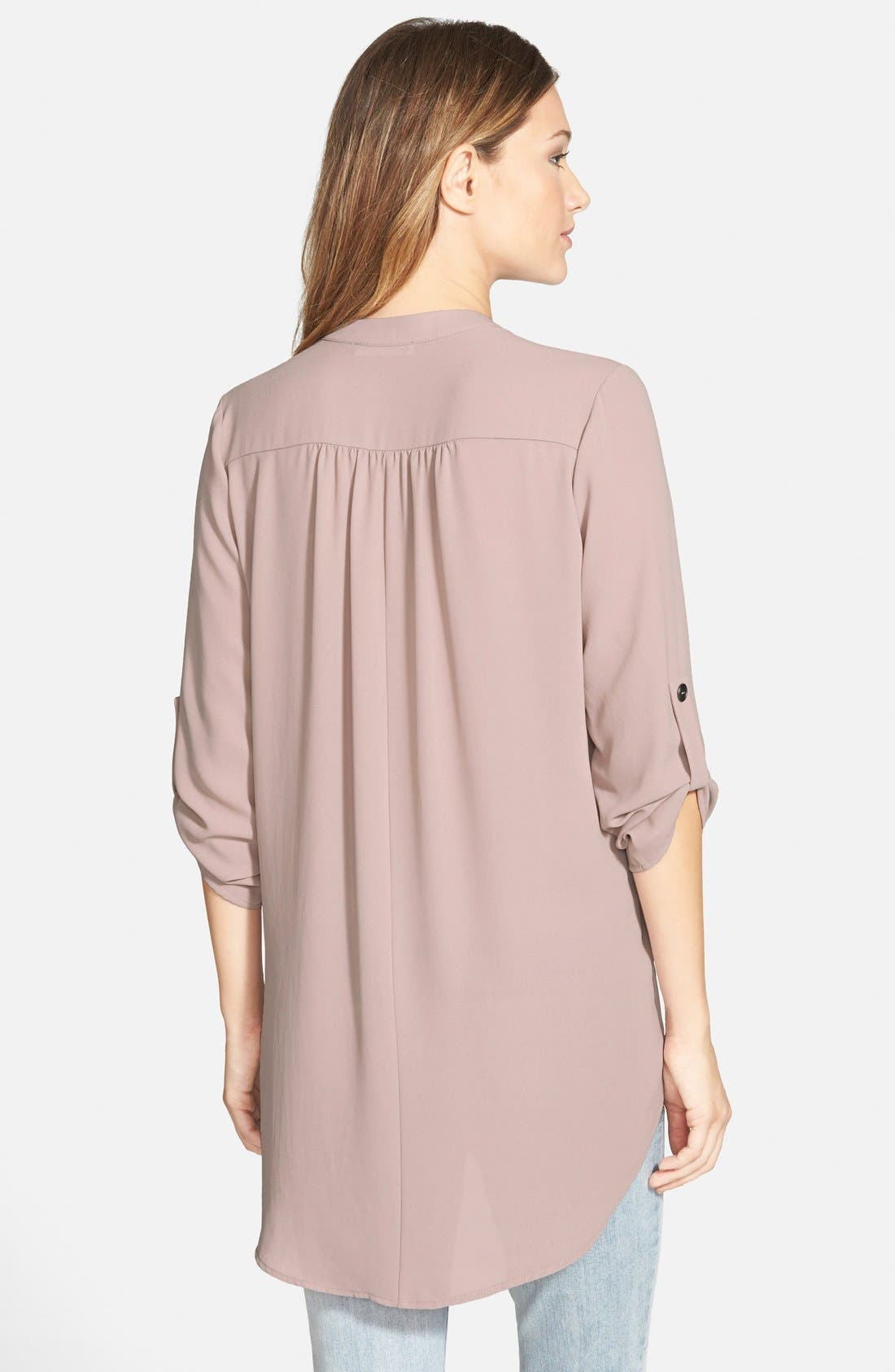 ,                             Perfect Roll Tab Sleeve Tunic,                             Alternate thumbnail 356, color,                             650