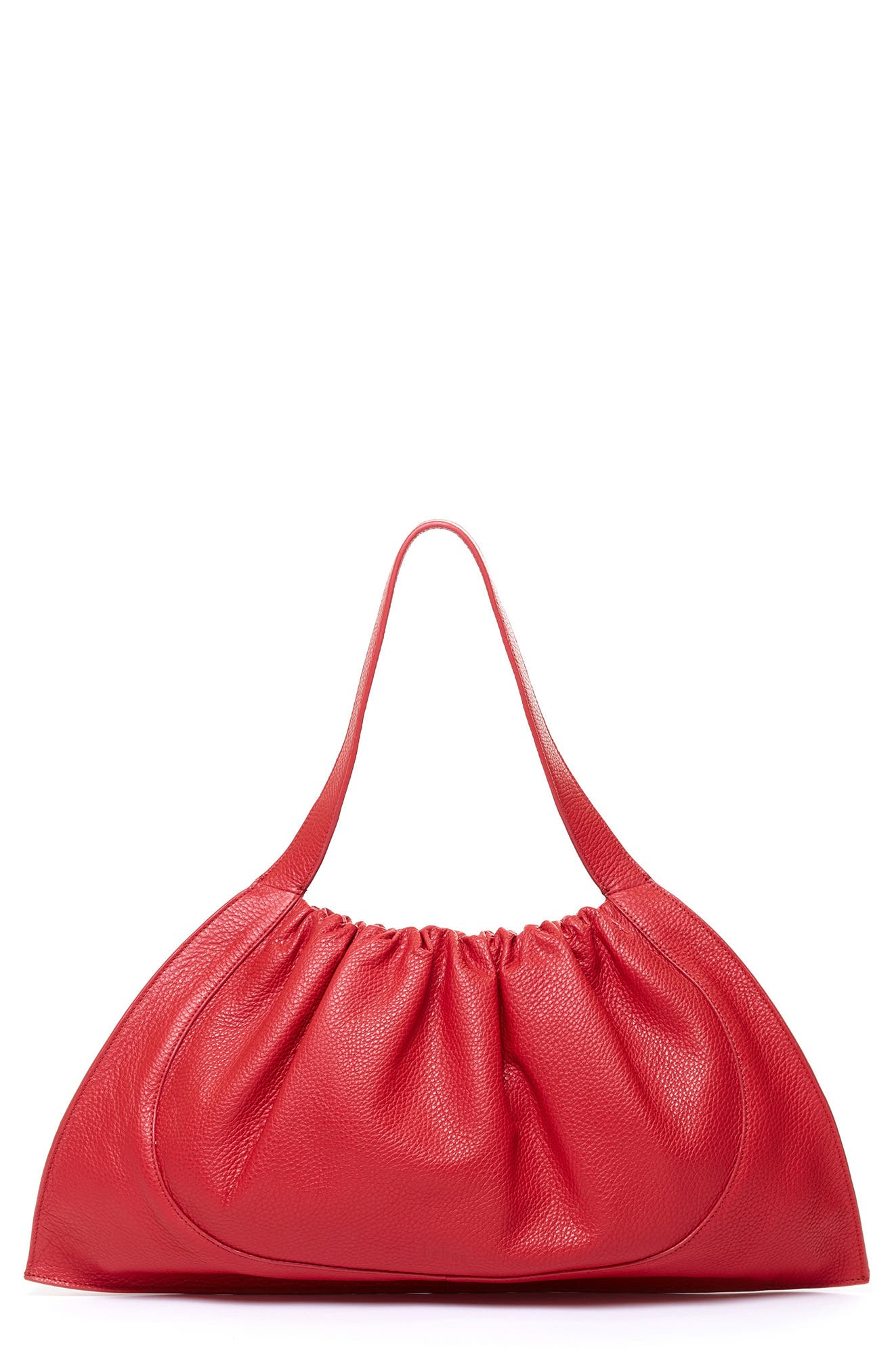 Ana Ruched Leather Crossbody Bag