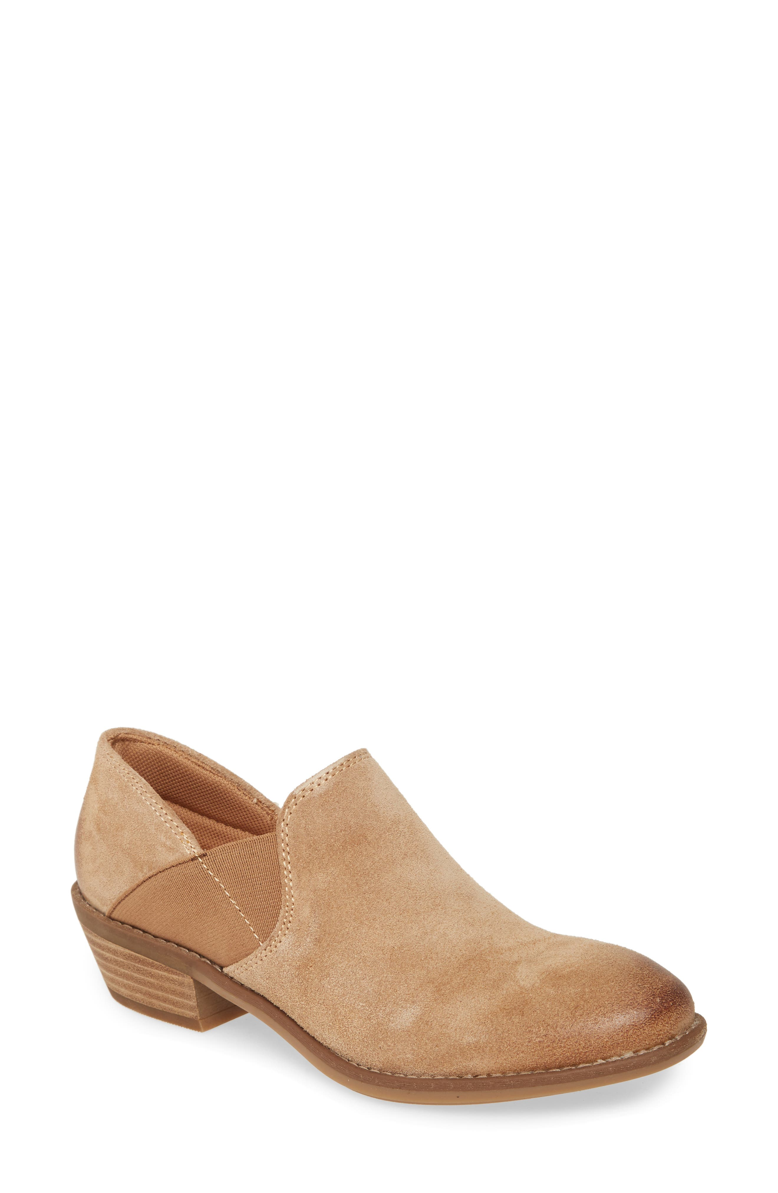 Clean contemporary style merges with everyday comfort in this block-heel bootie grounded with a cushioned memory foam footbed. Style Name: Comfortiva Valance Bootie (Women). Style Number: 5880707. Available in stores.