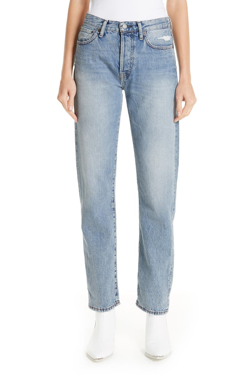 ACNE STUDIOS 1997 Straight Leg Jeans, Main, color, LIGHT BLUE