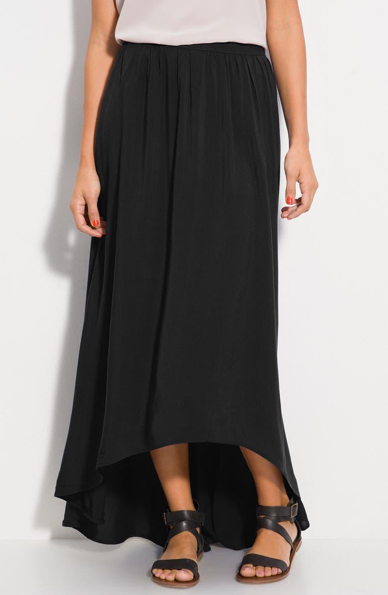 RUBBISH<SUP>®</SUP> Asymmetrical Circle Hem Maxi Skirt, Main, color, 001
