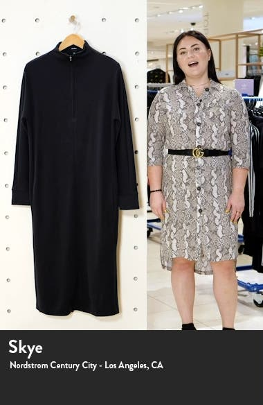 Casta Front Zip Long Sleeve Midi Dress, sales video thumbnail