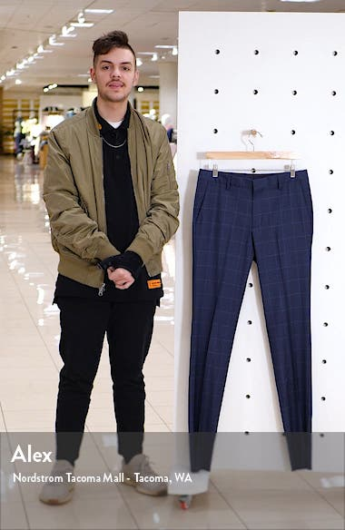 Jetsetter Slim Fit Flat Front Stretch Wool Dress Pants, sales video thumbnail