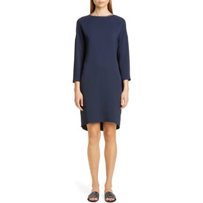 Fabiana Filippi Chain Trim Shift Dress, US / 40 IT - Blue