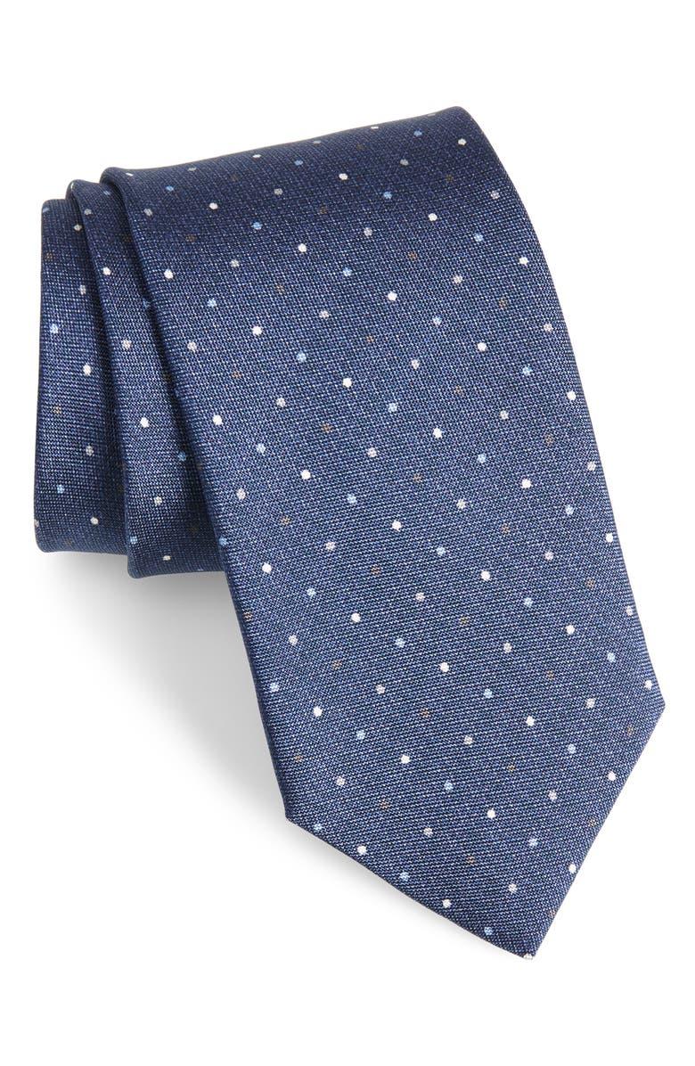 DAVID DONAHUE Dot Silk Tie, Main, color, 476