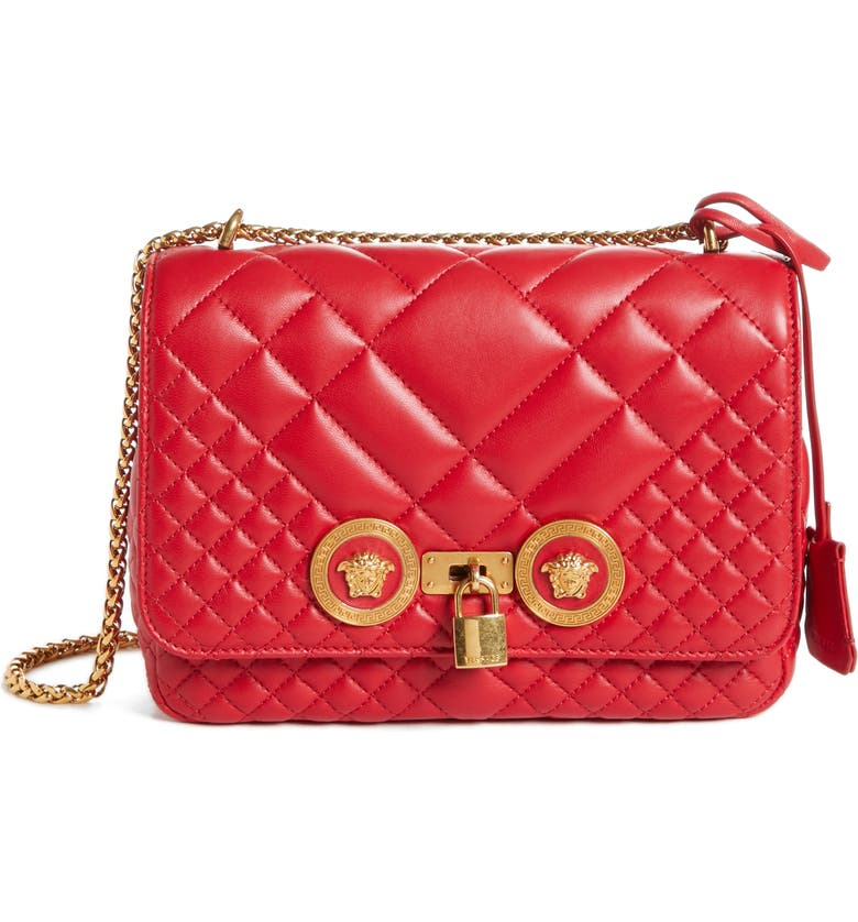 Versace Icon Medium Quilted Leather Shoulder Bag by Versace First Line