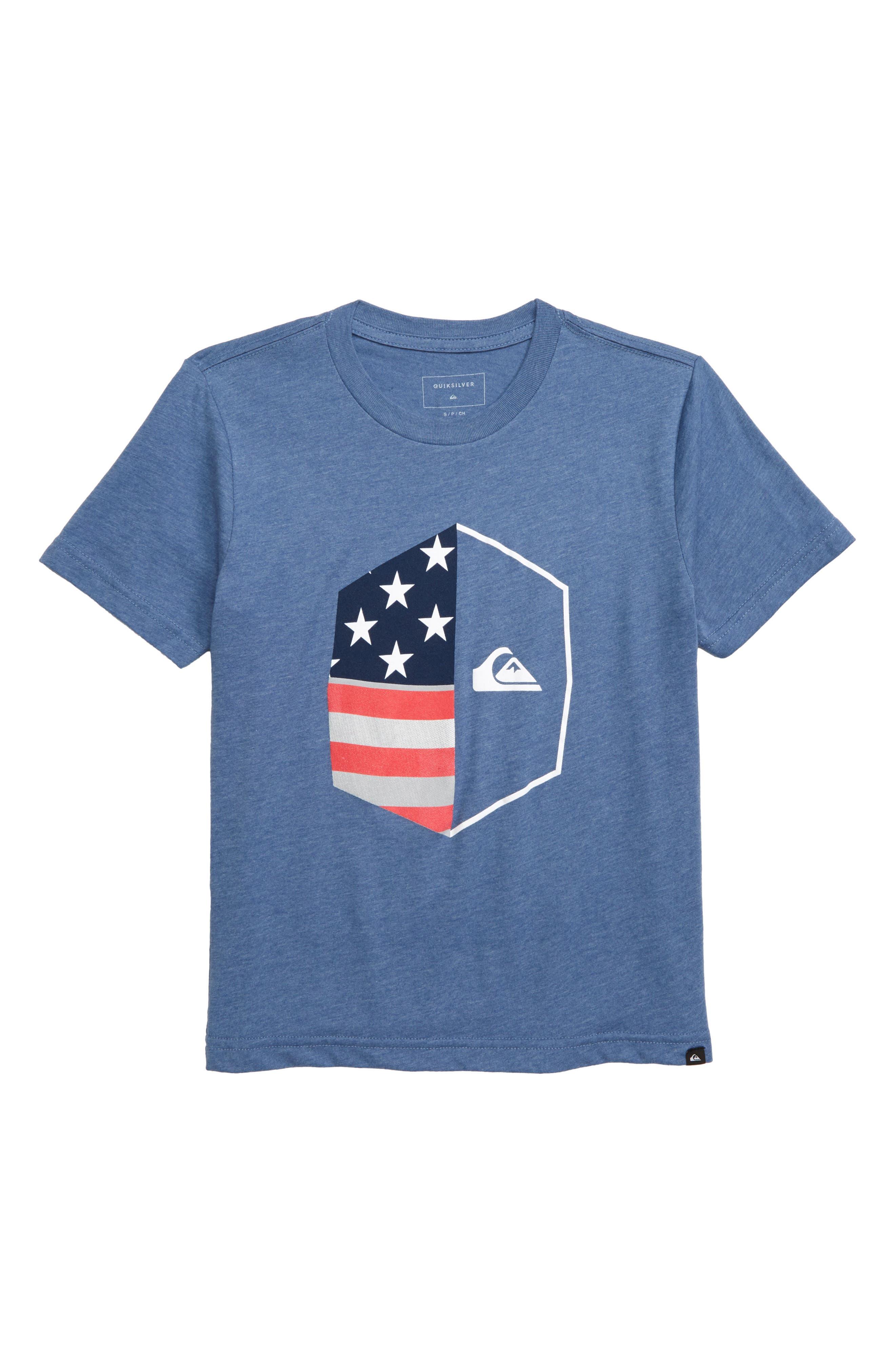 Boys Quiksilver Americana Graphic TShirt Size XL (16)  Blue